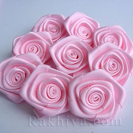 Розички Сатен, розово 10бр. (QS08-1)