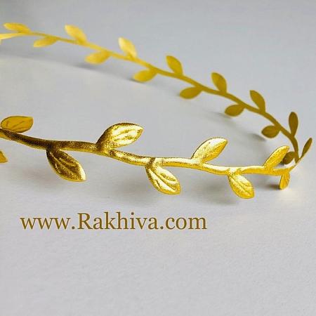 Декоративна панделка Листа, 24мм/3м, злато