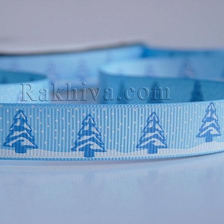 Снежни панделки, Релефен сатен, 10 мм/ 9 м (синьо) (10/9/029/463/7495C)