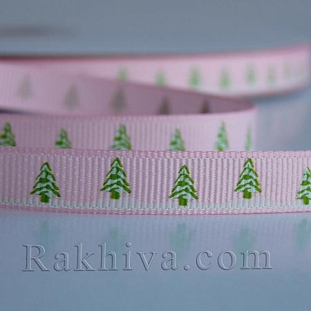 Снежни панделки, Релефен сатен, 10 мм/ 9 м (розово) (10/9/029/463/7495C)