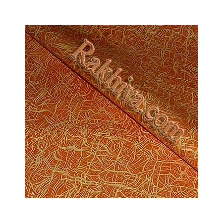 Целофан за опаковане на пакет, Арт оранжево (70/100/11175) над 50 листа