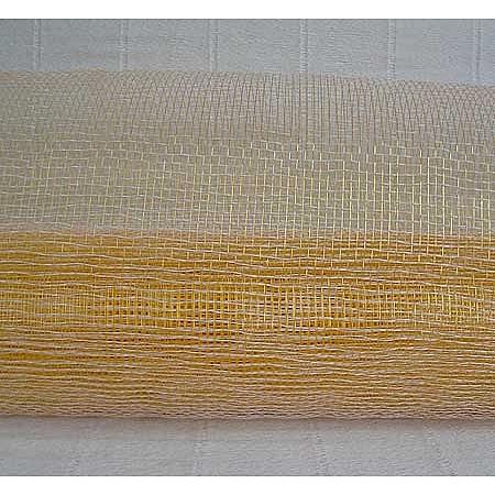 Мрежа за цветя 'Слънчеви лъчи' (Корея) на кашон, 9 ярда бяло/злато (41/10-200) над 20 броя