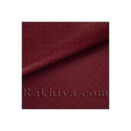 Целофан за опаковане на пакет, Точки бордо (70/100/151186) над 50 листа
