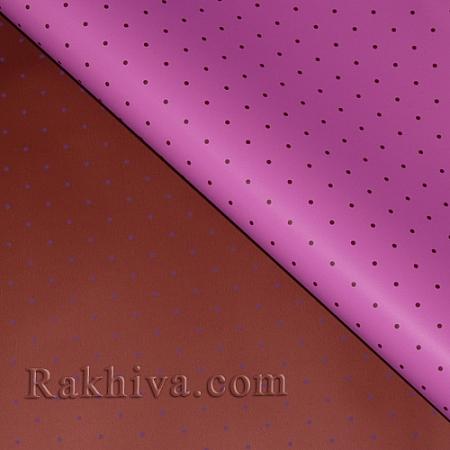 Целофан за опаковане на пакет, Точки бордо, розово (70/100/151186-40) над 50 листа