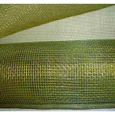 Мрежа за цветя 'Слънчеви лъчи' (Корея) на кашон, 9 ярда в. зелено/злато (41/64-200) над 20 броя