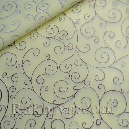 Целофан за опаковане на пакет, Спирали екрю, злато (70/100/17112-200) над 50 листа