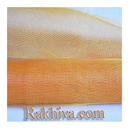 Мрежа за цветя 'Слънчеви лъчи' с двойна нишка (Корея) на кашон, ЕДРО 9 ярда оранжево/жълто (41/75-70) над 20 броя