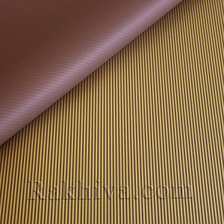 Целофан за опаковане на пакет, Стилна кафяво, злато (70/100/51134-200) над 50 листа
