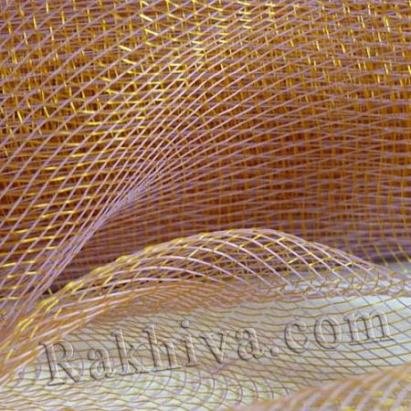 Мрежа за цветя 'Слънчеви лъчи' с двойна нишка (Корея) на кашон, 9 ярда св. лилаво/злато (41/90-200) над 20 броя