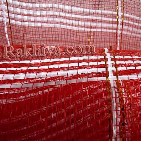Мрежа за цветя - златни нишки,  червено на кашон, 9 ярда червено златни нишки (43/80) над 20 броя