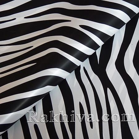 Целофан за опаковане на пакет, Зебра бяло, черно (70/100/161110-20) над 50 листа