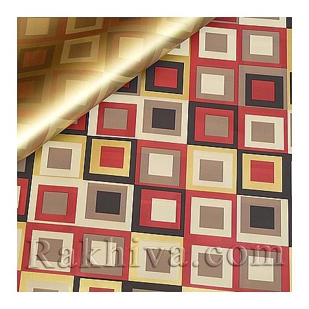Целофан за опаковане на пакет, Шарлот злато, червено (70/100/2011200-80) над 50 листа