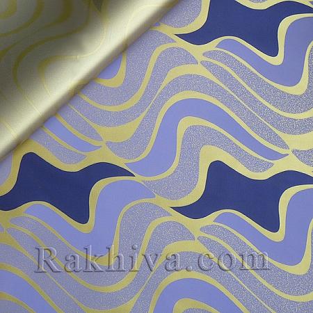Целофан за опаковане на пакет, Вълни от спомени злато, лилаво (70/100/19190-200) над 50 листа