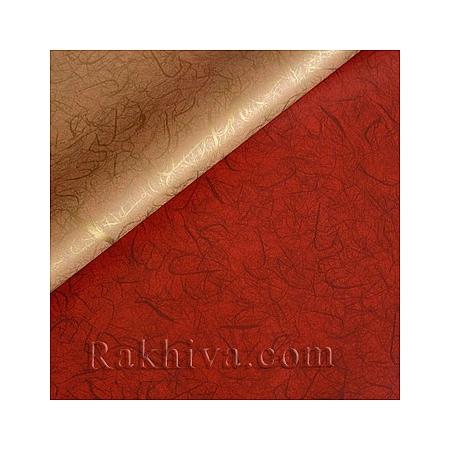 Целофан за опаковане на пакет, Идеи злато , бордо (100/100/12/200-86) над 20 листа