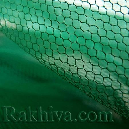 Сватбен тюл на топ, тъмно зелено (84/65) над 50 л.м
