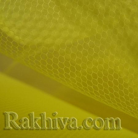 Сватбен тюл на топ, жълто (84/70) над 50 л.м