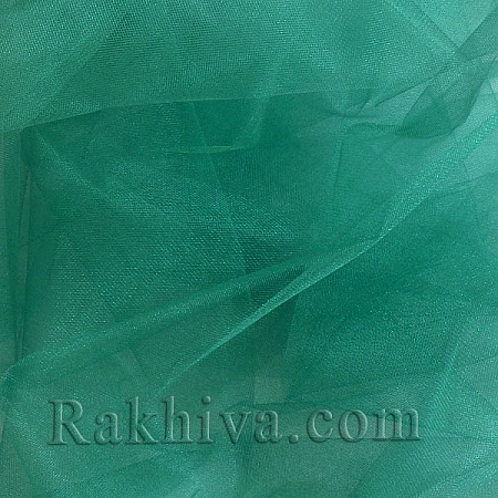 Кристален тюл на топ, тъмно зелено (85/65) за 50 л.м.