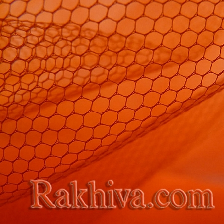 Сватбен тюл на топ, оранжево (84/75) над 50 л.м