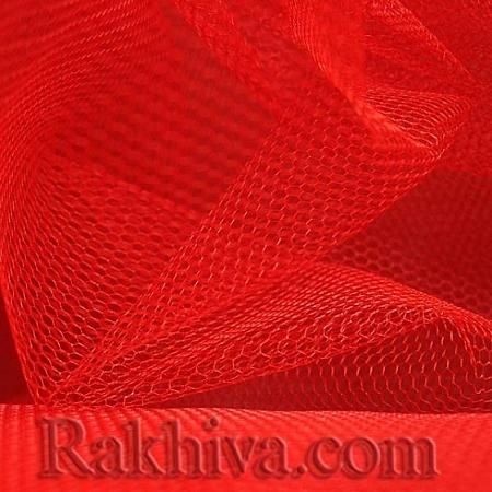 Сватбен тюл на топ, червено (84/80) над 50 л.м