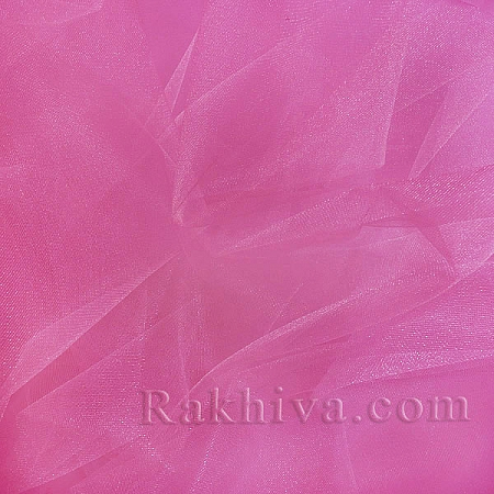 Кристален тюл на топ, тъмно розово (85/42) за 50 л.м.