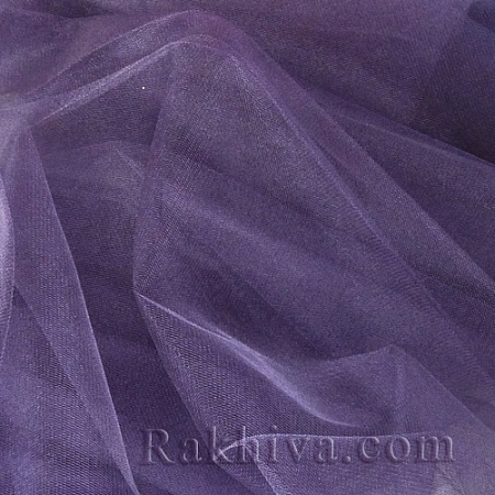 Кристален тюл на топ, тъмно лилаво (85/92) за 50 л.м.