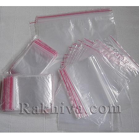 Пликове с цип на кашон, 7 см/9 см над 180 пакета