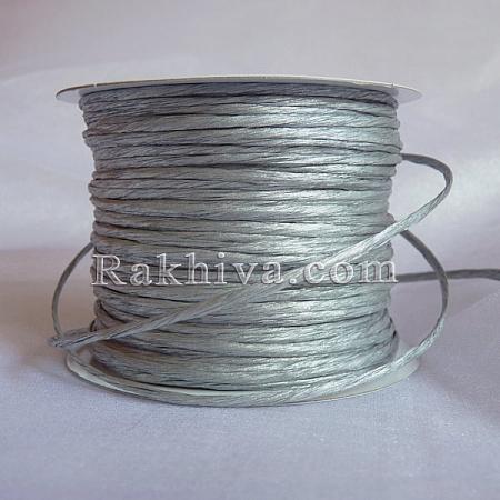 Хартиен шнур с тел на кашон, сребро (2/50/61300) над 24 броя