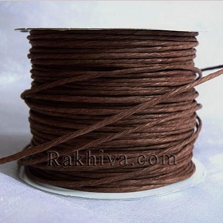 Хартиен шнур с тел на кашон, тъмно кафяво (2/50/6134) над 24 броя