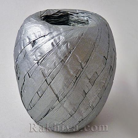 Хартиена рафия на едро, сребро (20/50/62300) над 24 броя
