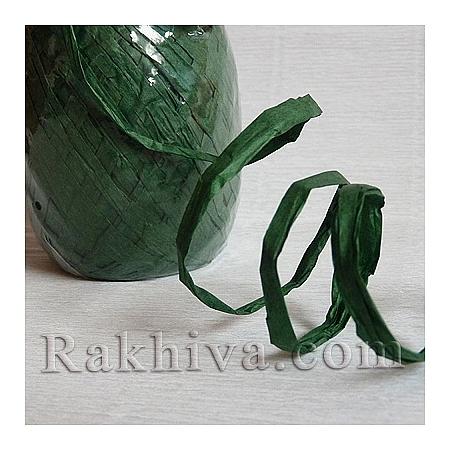 Хартиена рафия на едро, тъмно зелено (20/50/6265) над 24 броя