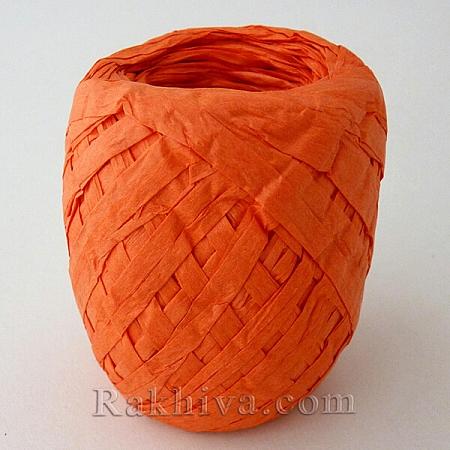 Хартиена рафия на едро, оранжево (20/50/6276) над 24 броя