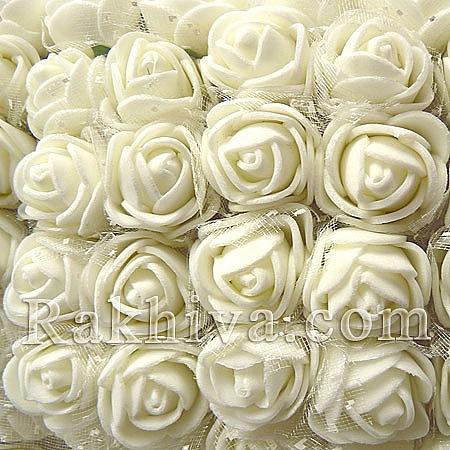 Силиконови розички - клонка на едро, бяло (2,5см/144 броя) над 20 пакета