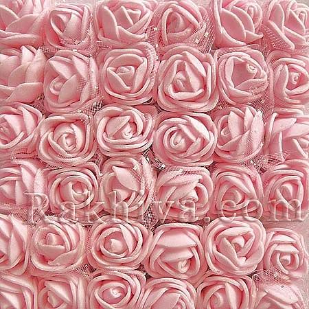 Силиконови розички - клонка на едро, розово (2.5 см/144 броя) над 20 пакета