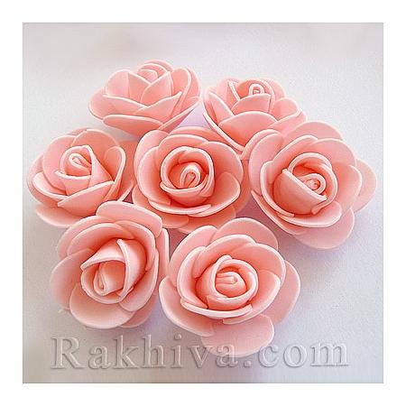 Силиконови розички на едро, розов кварц (3,5 см/50 броя) над 35 пакета