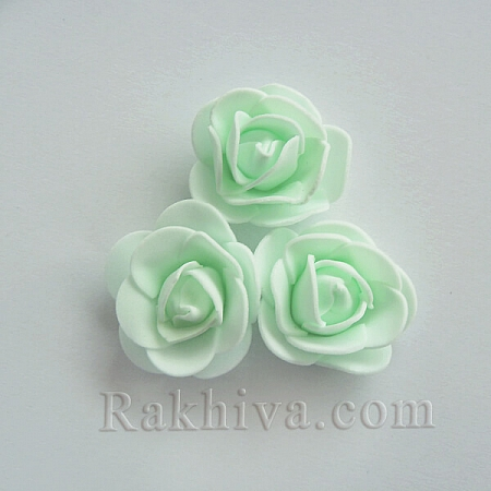 Силиконови розички на едро, мента (3,5 см/50 броя) над 35 пакета