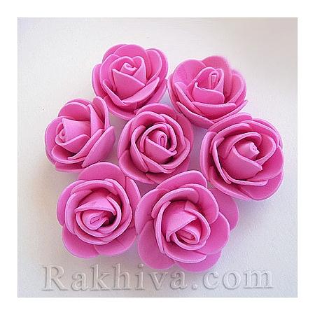 Силиконови розички на едро, тъмно розово (3,5 см/50 броя) над 35 пакета