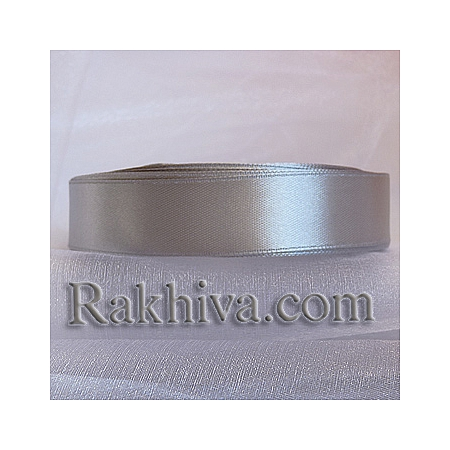 Панделка сатен - светло сиво, 6 мм / 25 ярда ( 6/25/2321) > 50 броя