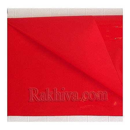 Едноцветен целофан за цветя (червено) на пакет, ЕДРО червено (50/50/1380)