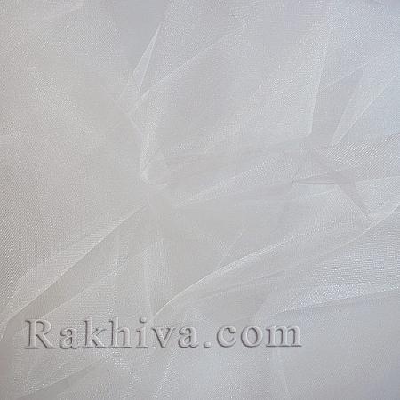 Кристален тюл на топ бяло, бяло (85/10) за 50 л.м.