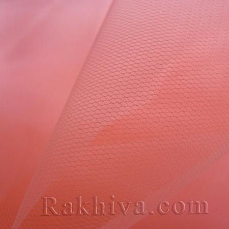 Италиански тюл цвят корал, корал (86/47) за 50 л.м.