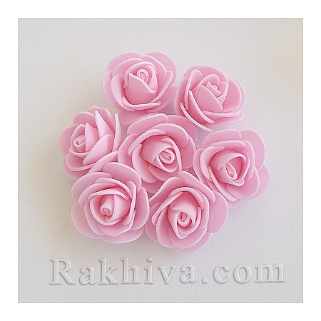 Силиконови розички, вечни рози456, перлено розово (3,5 см/ 10 бр.) 35/10/40-1