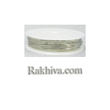 Тел месинг - цвят сребро 0,2мм