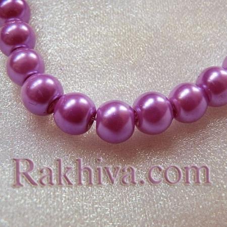 Перли (изкуствени) за изработка на бижута, за декорация, за украса - лилаво