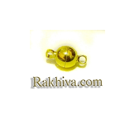 Магнитна метална закопчалка - цвят злато, цвят злато (1 бр.) MC019-NFG