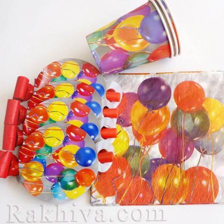 Комплекти за парти  Парти с балони, салфетки/ 16бр. (64502)