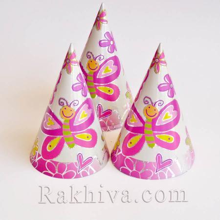 Лазерни шапки за парти  Пеперуди, Пеперуди (6 бр.) (613534)