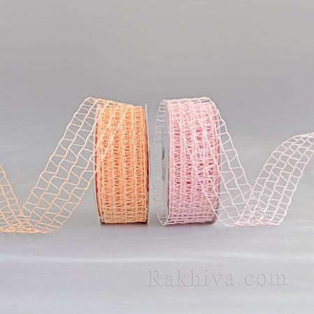 Хартиена панделка мрежа, розово
