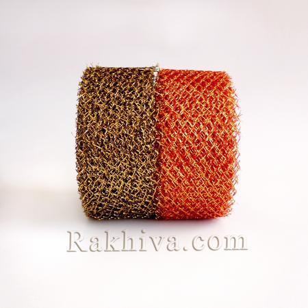 Тъкани мрежа със злато