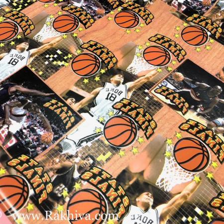 Цветна хартия 60 гр., Модел 114 (Баскетбол)