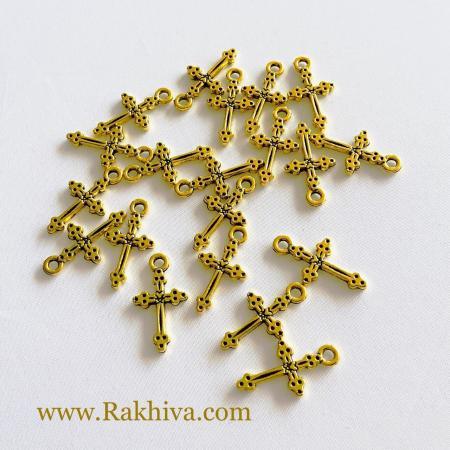 Кръстчета цвят злато, 20бр (EA9080Y-G)